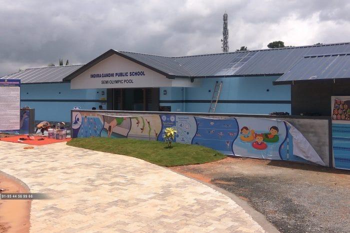Swimming pool design at Indira Gandhi Public School Mambaram